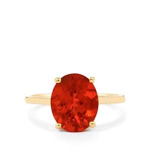 2.65ct Tarocco Red Andesine 9K Gold Ring
