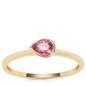 Padparadscha Sapphire Ring in 9K Gold 0.42ct