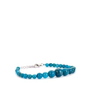 Neon Apatite Bracelet  in Sterling Silver 77.90ct