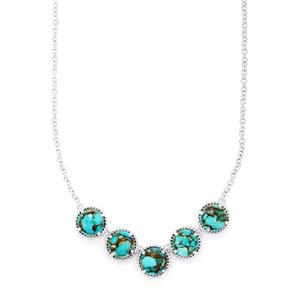 18.47ct Egyptian Turquoise Sterling Silver Necklace