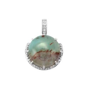 Aquaprase™ Pendant with White Topaz in Sterling Silver 10.38cts