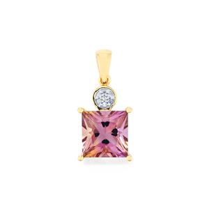 Anahi Ametrine Pendant with Diamond in 9K Gold 4.58cts