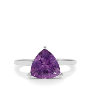 Moroccan Amethyst Ring in Sterling Silver 2.95cts