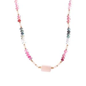 Multi-Colour Tourmaline and Luxury Gemstone Sarah Bennett Necklace in Gold Plated Sterling Silver