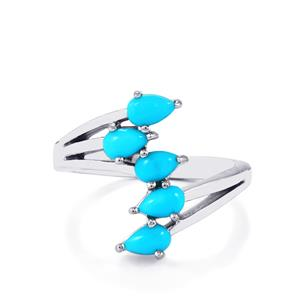 Sleeping Beauty Turquoise Ring in Sterling Silver 0.97ct