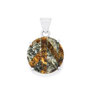 27ct Astrophyllite Drusy Sterling Silver Aryonna Pendant
