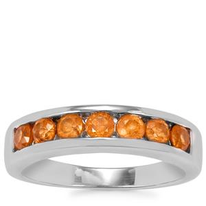 Mandarin Garnet Ring in Sterling Silver 1.17cts