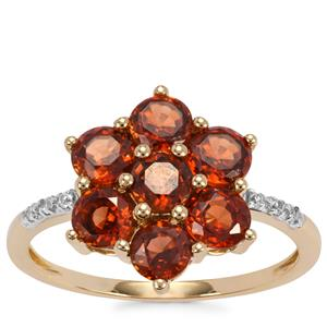 Capricorn Zircon Ring with White Zircon in 9K Gold 3cts
