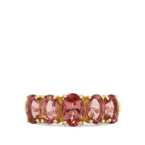 Rosé Apatite Ring in 9K Gold 2.55cts