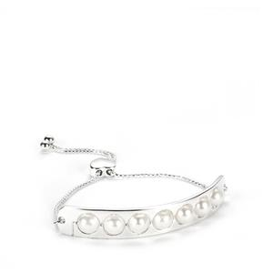 Kaori Cultured Pearl Slider Bracelet  in Sterling Silver