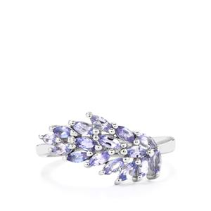 0.92ct Tanzanite Sterling Silver Ring