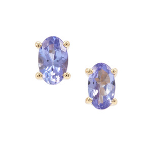 AAA Tanzanite Earrings in 9K Gold 0.51ct