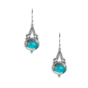 Samuel B Sleeping Beauty Turquoise Sterling Silver Earrings 2.9cts