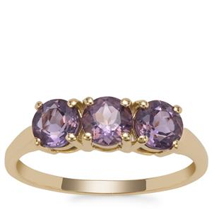 Blueberry Quartz Ring in 9K Gold 1.52cts