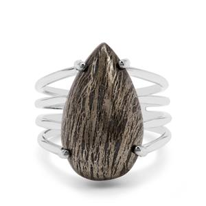 Feather Pyrite Ring in Sterling Silver 13cts