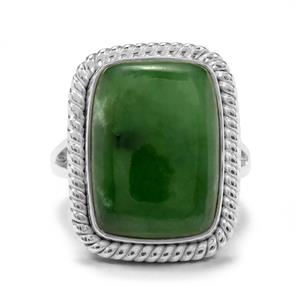 14.42ct Genuine Jade Sterling Silver Aryonna Ring