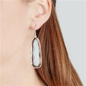 Optic Quartz Earrings in Sterling Silver 50.80cts
