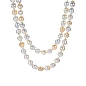 South Sea Cultured Pearl (8x8mm) Necklace in Sterling Silver