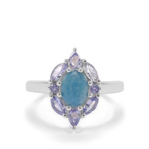 Thor Blue Quartz Ring with Tanzanite in Sterling Silver 2.28cts