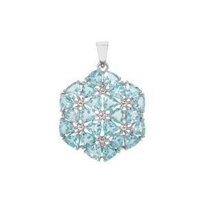 Madagascan Blue Apatite Pendant in Sterling Silver 8.65cts