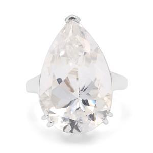 19.25ct 'Millennium Star' Optic Quartz Sterling Silver Ring