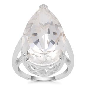 'Millennium Star' Optic Quartz Ring in Sterling Silver 19.25cts