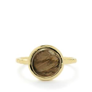 Smokey Quartz Ring in Gold Vermeil 3.76ct