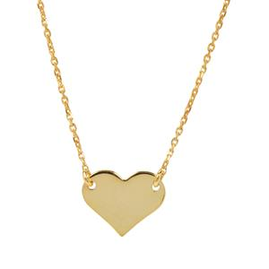 "36"" Midas Altro Diamond Cut Heart Necklace 2.66g"