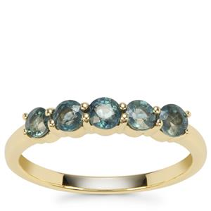 Natural Nigerian Blue Sapphire Ring in 9K Gold 0.96ct