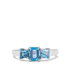 1.50ct Electric Blue Topaz Sterling Silver Ring