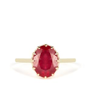 Thai Ruby Ring in 9K Gold 4cts