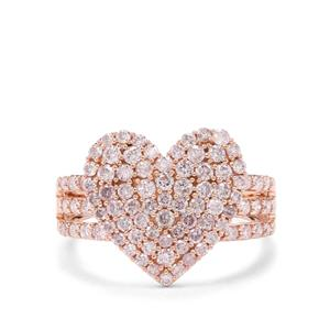 1.25ct Pink Diamond 9K Rose Gold Tomas Rae Heart Ring