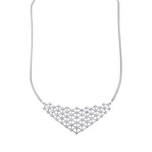 Diamond Necklace in Sterling Silver 2ct