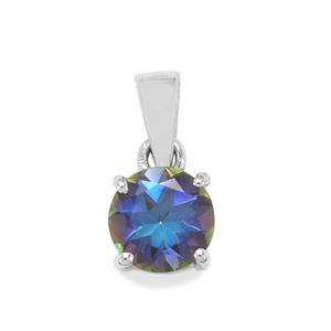 Mystic Blue Topaz Pendant in Sterling Silver 2.25cts