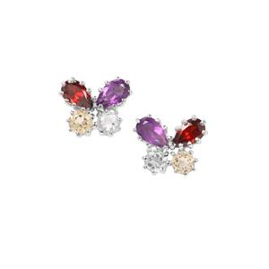 Kaleidoscope Gemstone Earrings in Sterling Silver 1.48ct