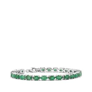 Minas Gerais Emerald Bracelet in Sterling Silver 13cts