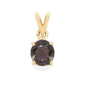 1.33ct Burmese Multi-Colour Spinel 9K Gold Pendant
