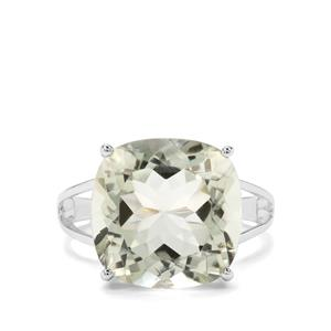 10.19ct Prasiolite Sterling Silver Ring