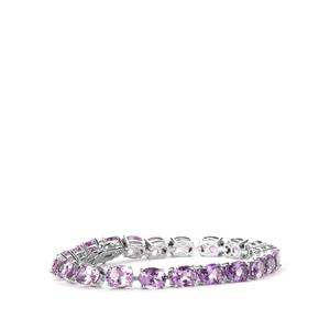Rose De France Amethyst Bracelet in Sterling Silver 24.24cts