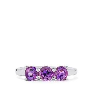 1.36ct Moroccan Amethyst Sterling Silver Ring
