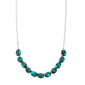 Egyptian Turquoise Necklace in Sterling Silver 18.58cts