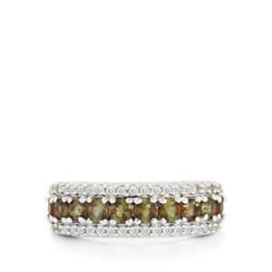 Gouveia Andalusite & White Topaz Sterling Silver Ring ATGW 1.60cts