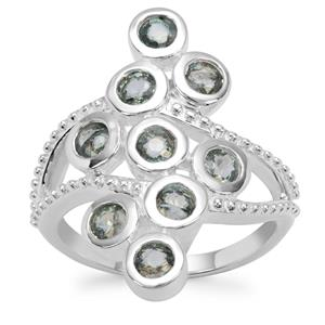 Natural Umba Sapphire Ring in Sterling Silver 1.97cts