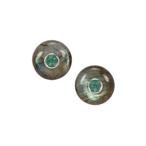 Labradorite & Topaz Sterling Silver Earrings ATGW 20.30cts