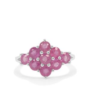 Ilakaka Hot Pink Sapphire Ring in Sterling Silver 3.40cts (F)