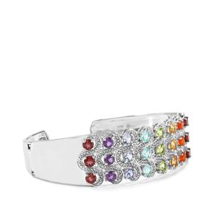 6.38ct Kaleidoscope Gemstones Sterling Silver Cuff