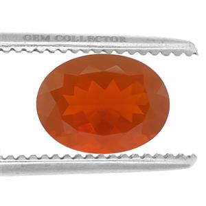 Strawberry American Fire Opal GC loose stone  12.00cts