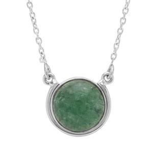 16ct Kiwi Quartz Sterling Silver Aryonna Necklace