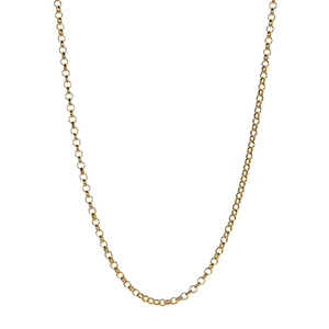 "20"" Gold Tone Sterling Sterling Silver Classico Belcher Chain 2.70g"