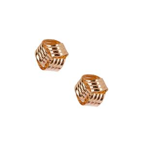 10k Gold Tube Earrings 0.67g